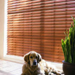 Country Woods Real Wood Blinds for LivingRoom