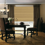 Roman blind for dining room